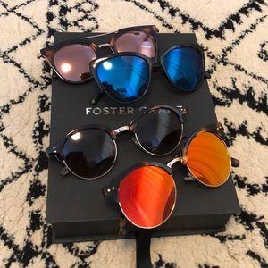 FOSTER GRANT- 4 Pairs Women's Sunglasses NEW